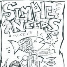 Revistas de música: SIMPLE NEEDS FUCKZINE Nº 4 -BOLETIN OFICIAL DEL CLUB DE FANS DE THE PLEASURE FUCKERS-. Lote 124591111