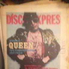 Revistas de música: DISCO EXPRES 495 (FEB-79):QUEEN,IAN ANDERSON,AL STEWART,ZOMBIES,LOQUILLO,ALASKA,NACHA POP,KAKA LUXE. Lote 124595951