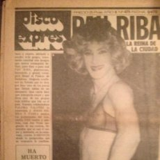 Revistas de música: DISCO EXPRES 475 (9-5-78):PAU RIBA, MUSICA URBANA,GOTIC, HOWARD JOHNSON, BOB MARLEY. Lote 124619035