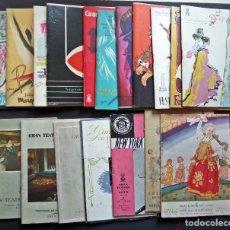 Revistas de música: 18 PROGRAMAS DEL GRAN TEATRO DEL LICEO DE BARCELONA , DE LOS AÑOS 1948 AL 1969. VER FOTOS. Lote 125156659