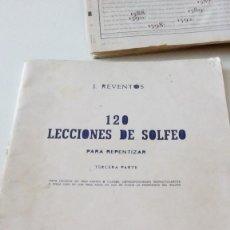Revistas de música: C-15OG18 J. REVENTOS 120 LECCIONES DE SOLFEO PARA REPENTIZAR TERCERA PARTE . Lote 125222015
