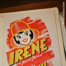 Revistas de música: IRENE THE MUSICAL .IRENE EL MUSICAL ADELPHI AÑO 1978. REVISTA DE 30 PÁGINAS.LONDRES. Lote 125349667