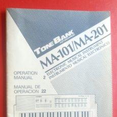 Riviste di musica: MANUAL DE INSTRUCCIONES TECLADO CASIO MA 101 MA 201 MUSICA. Lote 126237338