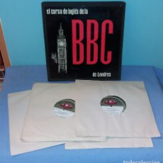 Revistas de música: CURSO DE INGLES DE LA BBC DE LONDRES COMPLETO CAJA CON 4 LP'S AÑOS 60 EN EXCELENTE ESTADO. Lote 126486011