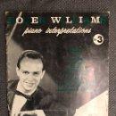 Revistas de música: PIANO. PIANO INTERPRETATIONS NO.3 ROGER WILLIAMS (A.1959). Lote 126603718
