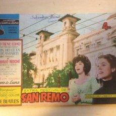 Revistas de música: BEATLES CLARO DE LUNA - EXTRA FESTIVAL DE SAN REMO. Lote 126909271