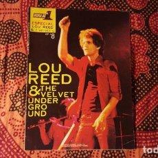 Revistas de música: REVISTA - POPULAR 1 ESPECIAL # 8 - LOU REED - THE VELVET UNDERGROUND - 36 PAGINAS - FALTA EL POSTER. Lote 127119999