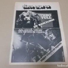 Revistas de música: DISCO EXPRES Nº 296 (REVISTA) JETHRO TULL,FRANK ZAPPA,BRIAN AUGER,ISAAC HAYES,AVALANCHA VIRGIN,HERBI. Lote 127515147