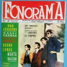 Revistas de música: REVISTA FONORAMA , Nº 25 ,1966, ANGELES AZULES, BRINCOS, ASTROS, BRUNO LOMAS, BEATLES ... ,ORIGINAL. Lote 138003089