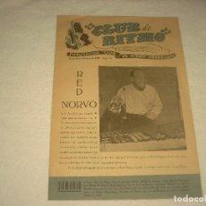 Revistas de música: CLUB DE RITMO Nº 70. FEBRERO 1952 . EN PORTADA RED NORVO.. Lote 128513587