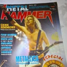 Revistas de música: METAL HAMMER AGOSTO 1989 Nº 21 BUEN ESTADO CON POSTER DE ARMORED SAINT. Lote 128687599