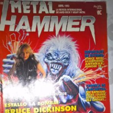Revistas de música: METAL HAMMER ABRIL 1993 Nº 65+POSTER DE SACRED REICH. Lote 128688939