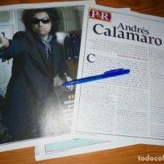 Revistas de música: RECORTE PRENSA : ANDRES CALAMARO. ROLLING STONES, SETMBRE 2007. Lote 128964359