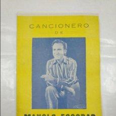 Revistas de música: CANCIONERO DE MANOLO ESCOBAR. TDKP13. Lote 128978735