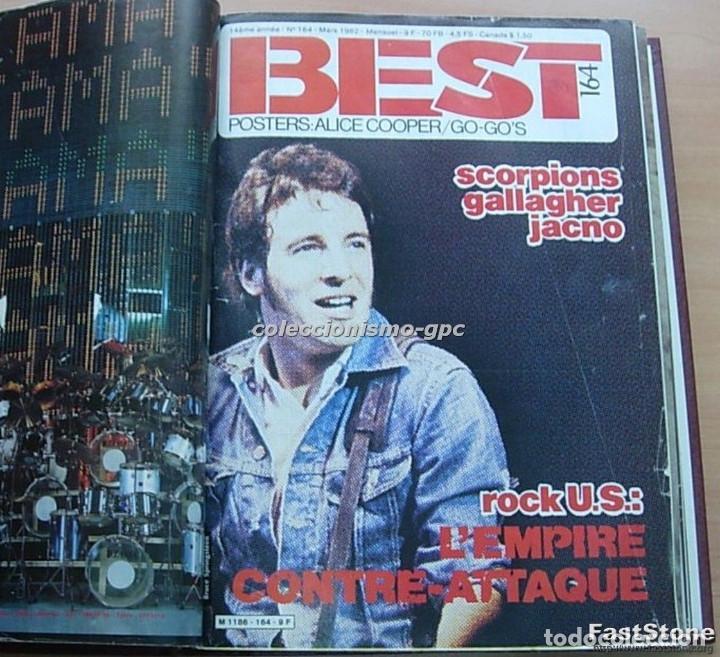 Revistas de música: Tomo Revista Música BEST 1982 Año Completo IRON MAIDEN ROLLING STONES SPRINGSTEEN AC/DC En Francés - Foto 2 - 129016579