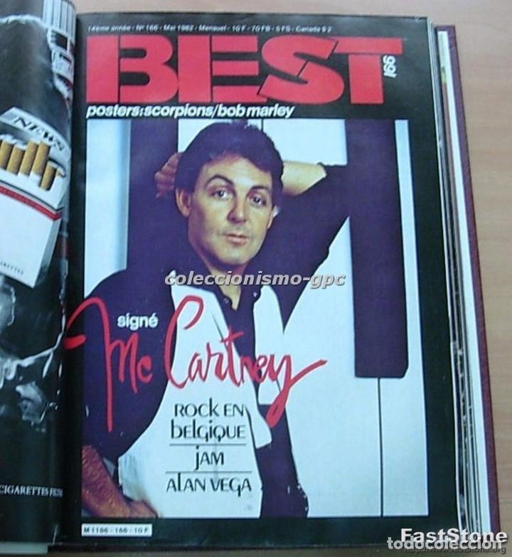 Revistas de música: Tomo Revista Música BEST 1982 Año Completo IRON MAIDEN ROLLING STONES SPRINGSTEEN AC/DC En Francés - Foto 3 - 129016579