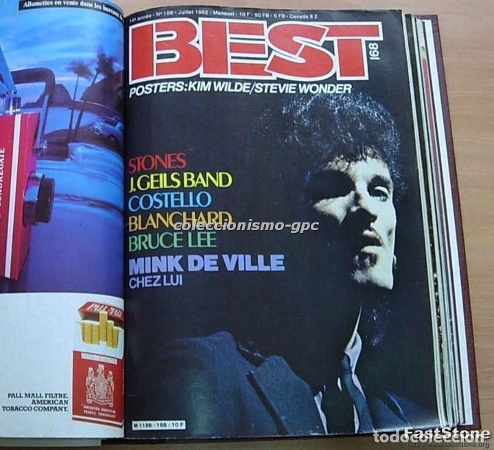 Revistas de música: Tomo Revista Música BEST 1982 Año Completo IRON MAIDEN ROLLING STONES SPRINGSTEEN AC/DC En Francés - Foto 4 - 129016579