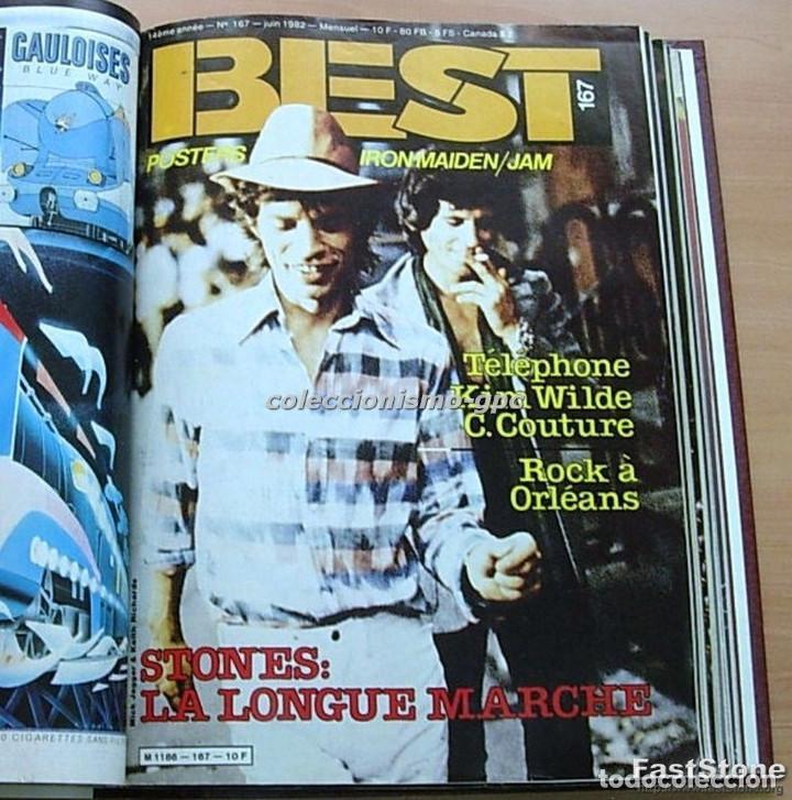 Revistas de música: Tomo Revista Música BEST 1982 Año Completo IRON MAIDEN ROLLING STONES SPRINGSTEEN AC/DC En Francés - Foto 5 - 129016579