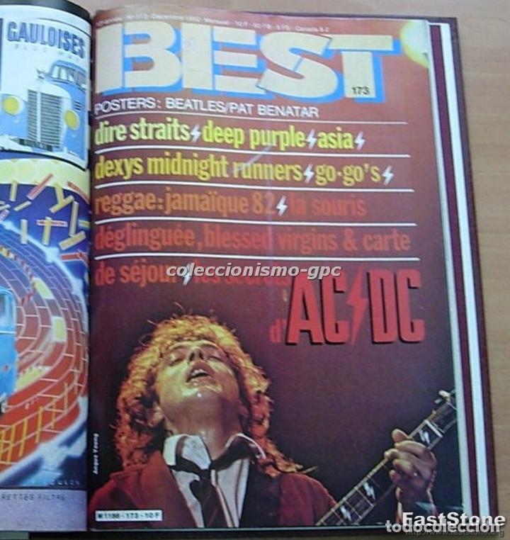 Revistas de música: Tomo Revista Música BEST 1982 Año Completo IRON MAIDEN ROLLING STONES SPRINGSTEEN AC/DC En Francés - Foto 7 - 129016579