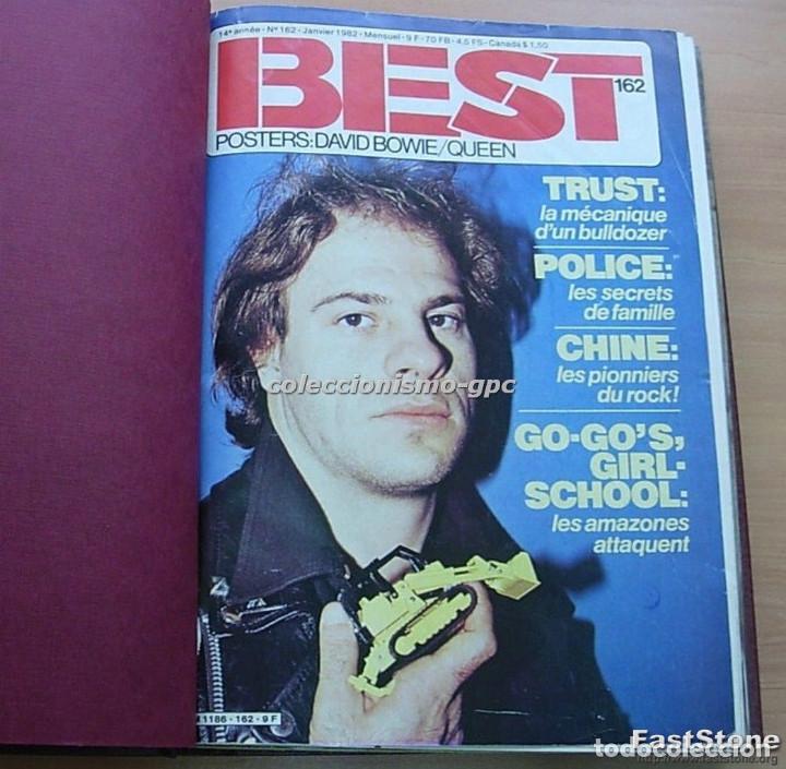 Revistas de música: Tomo Revista Música BEST 1982 Año Completo IRON MAIDEN ROLLING STONES SPRINGSTEEN AC/DC En Francés - Foto 10 - 129016579