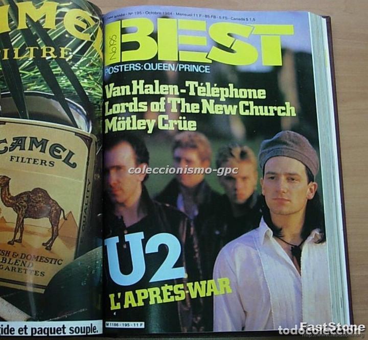 TOMO REVISTA MÚSICA BEST 1984 AÑO COMPLETO U2 SCORPIONS SPRINGSTEEN IRON MAIDEN STING EN FRANCÉS LEE (Música - Revistas, Manuales y Cursos)