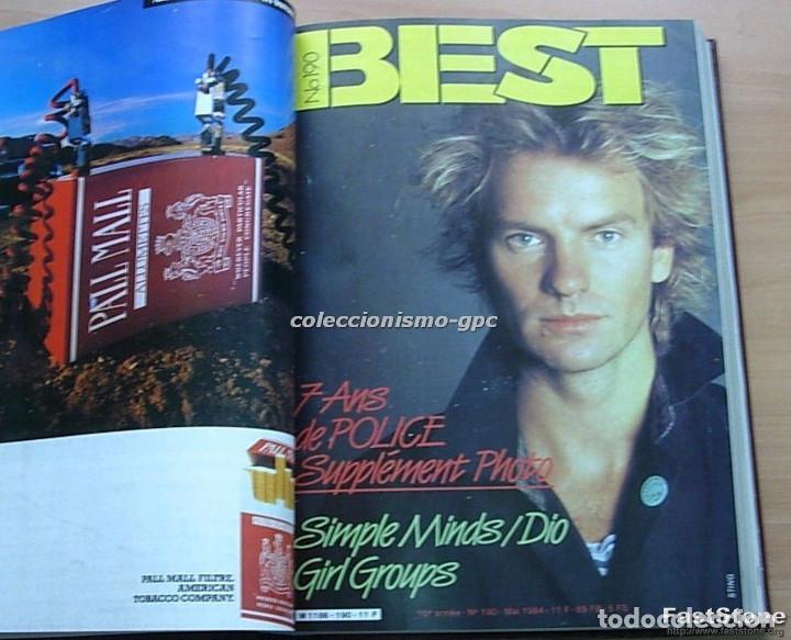 Revistas de música: Tomo Revista Música BEST 1984 Año Completo U2 SCORPIONS SPRINGSTEEN IRON MAIDEN STING En Francés Lee - Foto 5 - 129052907