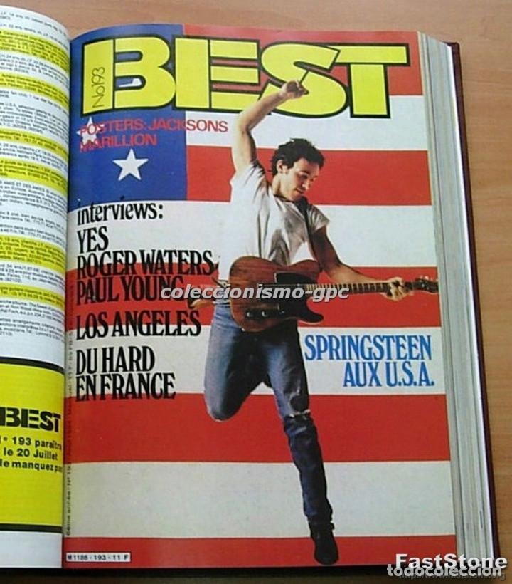 Revistas de música: Tomo Revista Música BEST 1984 Año Completo U2 SCORPIONS SPRINGSTEEN IRON MAIDEN STING En Francés Lee - Foto 6 - 129052907