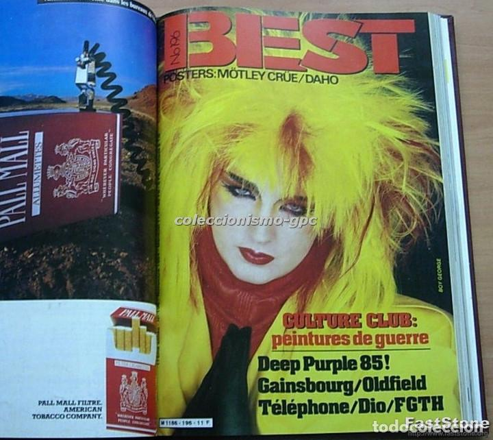 Revistas de música: Tomo Revista Música BEST 1984 Año Completo U2 SCORPIONS SPRINGSTEEN IRON MAIDEN STING En Francés Lee - Foto 8 - 129052907