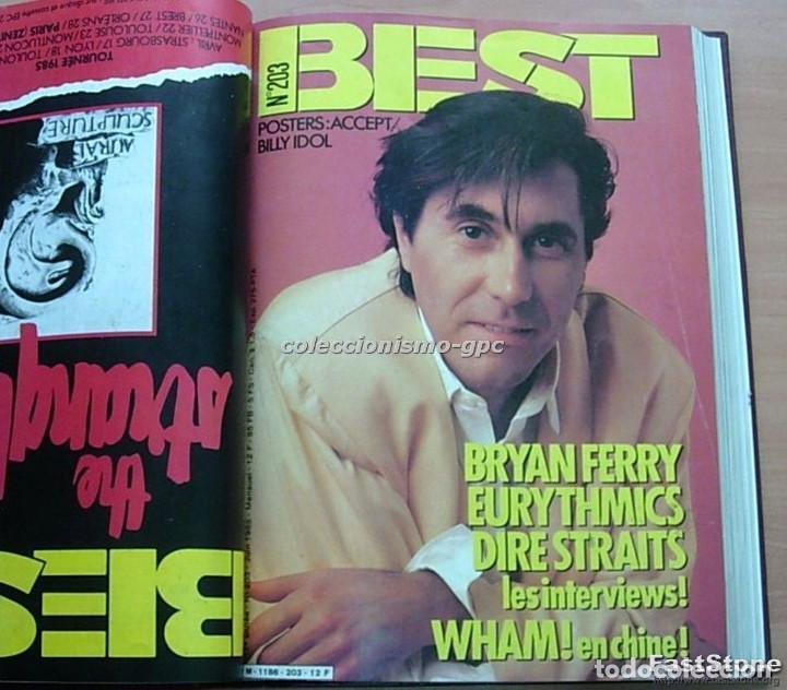 Revistas de música: Tomo Revista Música Rock BEST 1985 Año Completo SADE THE CURE SPRINGSTEEN ZZ TOP BRYAN FERRY PRINCE - Foto 4 - 129053779