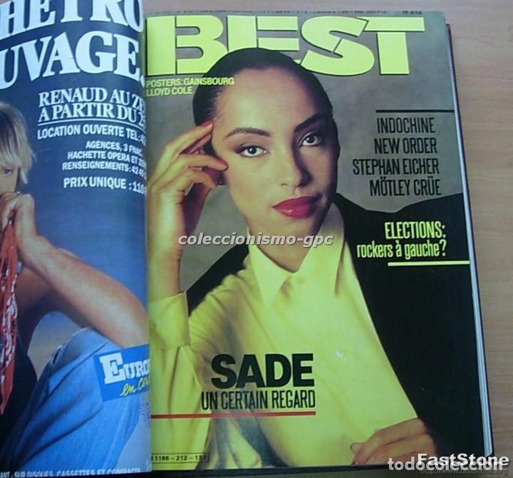 Revistas de música: Tomo Revista Música BEST 1986 Año Completo MADONNA STING BOWIE SADE THE CURE ZZ TOP DEPECHE MODE - Foto 4 - 129054719