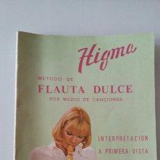 Revistas de música: METODO DE FLAUTA DULCE POR MEDIO DE CANCIONES. HIGMA. 1975. Lote 131428809
