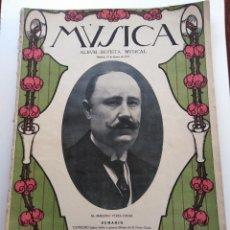 Revistas de música: MÚSICA. ALBUM-REVISTA MUSICAL (MADRID, 1917).. Lote 131617142