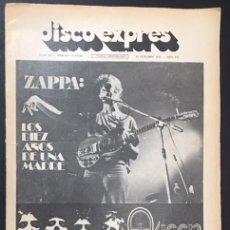 Riviste di musica: REVISTA PERIODICO PUBLICACION DISCO EXPRESS Nº 297 ZAPPA QUEEN. Lote 156590594