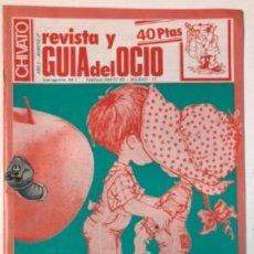 Revistas de música: N°27 REVISTA Y GUÍA DEL OCIO DE BILBAO 8/10/82 CONTRAPORTADA MECANO CONCIERTO, KIKE TÚRMIX, ALAIN G. Lote 132613754