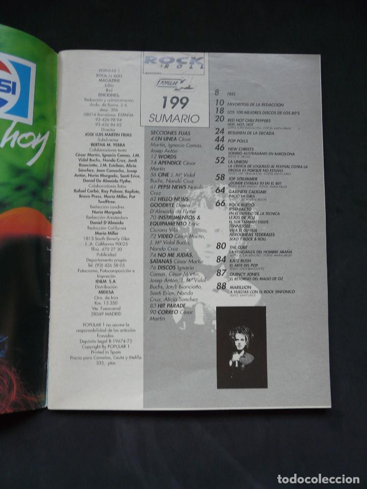 Revistas de música: Revista Popular 1 nº 199- febrero 1990 - Foto 3 - 132784354