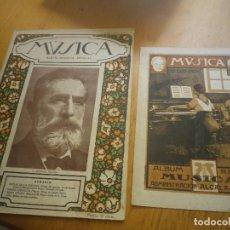 Revistas de música: MÚSICA ÁLBUM REVISTA MÚSICA 1 ENERO 1917 DEDICADO AL MAESTRO BRETON. Lote 132828422