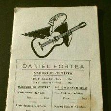 Revistas de música: MÉTODO DE GUITARRA DANIEL FORTEA - CURSO PRIMERO - ED. BIBLIOTECA FORTEA - MADRID - PARTITURAS. Lote 132830042