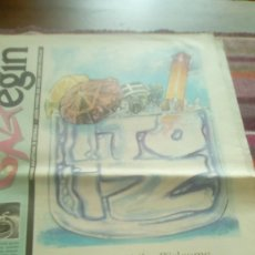 Revistas de música: GAZTEGIN 1994 BAT BI HIRU GRUPOS DE ERMUA KOJON PRIERO Y LOS HUAJOLOTES MILES DE ALBAÑILES. Lote 132972202