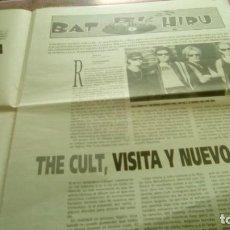 Revistas de música: GAZTEGIN 1994 12 PÁGINAS BAT BI HIRU THE CULT EL INQUILINO COMUNISTA PSYCHOPONY MORTAL Y ROSA . Lote 132974026
