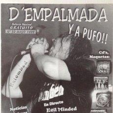 Revistas de música: D EMPALMADA Y A PUFO!! 32 RABIA POSITIVA PUNK ROCK HEAVY CONCIERTOS MAKETAS. Lote 133171582