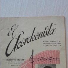 Riviste di musica: EL ACORDEONISTA.REVISTA ESPAÑOLA ORIENTACION MUNDIAL ACORDIONISTICA.INSTITUTO MOZART.Nº 41.1955. Lote 133450202