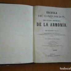 Revistas de música: ESCUELA DE COMPOSICIÓN HILARIÓN ESLAVA, TRATADO PRIMERO Y TERCERO EN UN SOLO VOLUMEN. 2ª ED. 1871-79. Lote 133561970