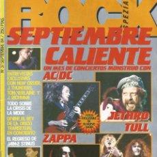 Revistas de música: REVISTA ROCK ESPEZIAL Nº 37 SEPTIEMBRE 1984 AC/DC JETHRO TULL ZAPPA IRON MAIDEN PORTADA. Lote 134023774
