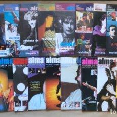 Revistas de música: ALMA 100 REVISTA DE FLAMENCO. LOTE DE 21 NÚMEROS (AÑOS 2000, 2001 Y 2002).. Lote 134402126