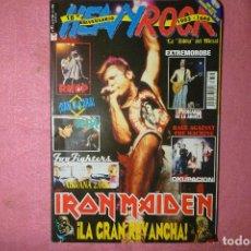 Revistas de música: MAGAZINE HEAVY ROCK 195 FOO FIGHTERS NIN / POSTER IRON MAIDEN R. Lote 135385434