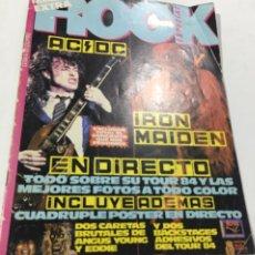 Revistas de música: REVISTA ROCK ESPEZIAL EXTRA Nº 17 IRON MAIDEN AC DC. Lote 136066108