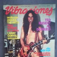 Revistas de música: VIBRACIONES NO. 82.JULIO 1981.TED NUGENT, IGGY POP, ALASKA, ADAM ANT, TOM PETTY.. Lote 136252158