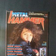 Revistas de música: REVISTA METAL HAMMER NÚMERO 14 AÑO 1989. BON JOVI. Lote 136681846