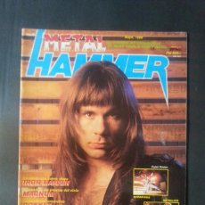 Revistas de música: REVISTA METAL HAMMER NÚMERO 6 AÑO 1988. METALLICA. IRON MAIDEN. Lote 136682038