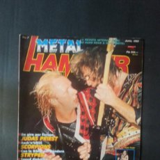 Revistas de música: REVISTA METAL HAMMER NÚMERO 7 AÑO 1988. JUDAS PRIEST, SCORPIONS. Lote 136682282